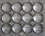 "18mm (11/16"") Round Glass Cabochons"