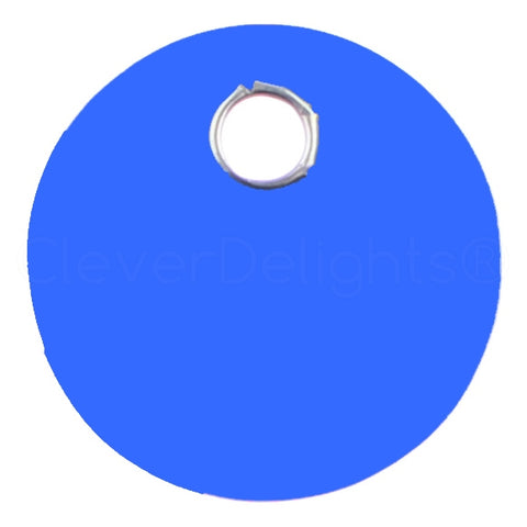 "Blue Plastic Tags - 1"" Round"