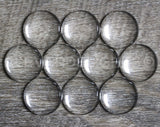 "20mm (3/4"") Round Glass Cabochons"