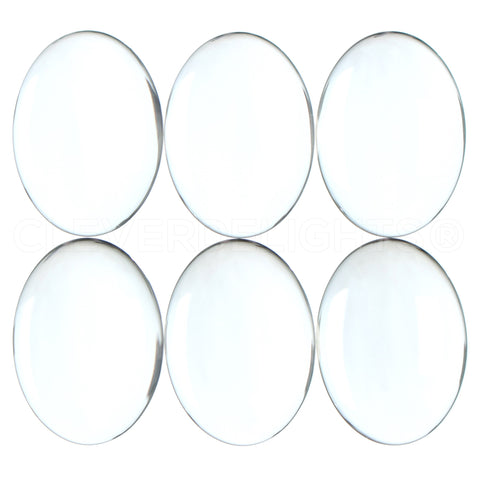 22x30mm Oval Glass Cabochons