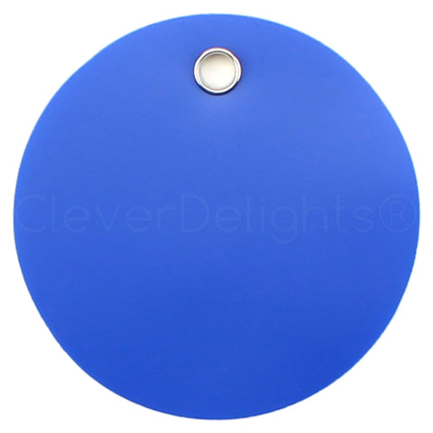 "Blue Plastic Tags - 2"" Round"