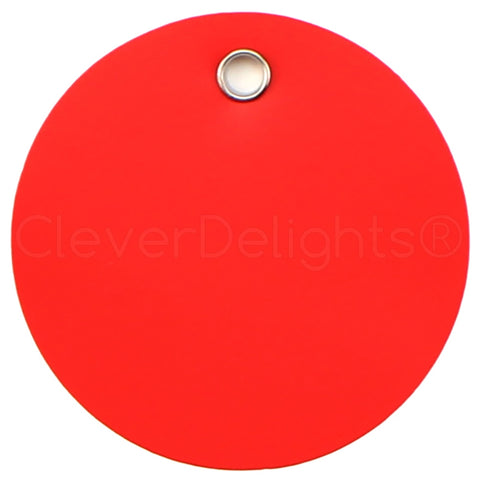 "Red Plastic Tags - 2"" Round"