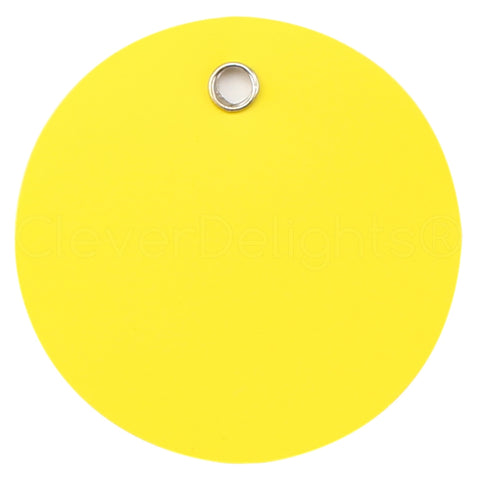 "Yellow Plastic Tags - 2"" Round"