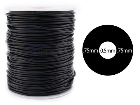 "Hollow Rubber Cord - 2mm (1/16"")"