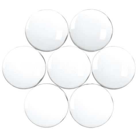 "30mm (1 3/16"") Round Glass Cabochons"