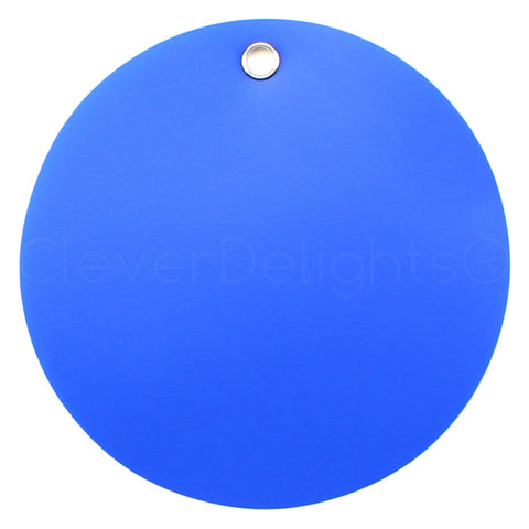 "Blue Plastic Tags - 3"" Round"
