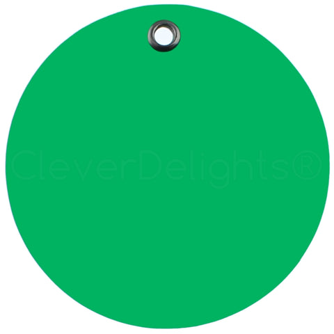 "Green Plastic Tags - 3"" Round"