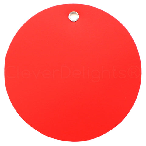 "Red Plastic Tags - 3"" Round"