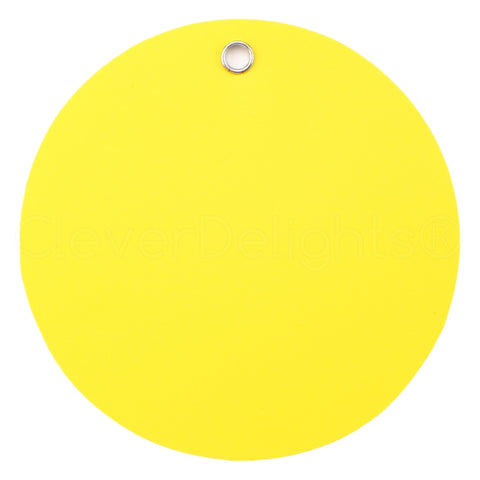 "Yellow Plastic Tags - 3"" Round"