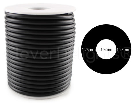 "Hollow Rubber Cord - 4mm (1/8"")"