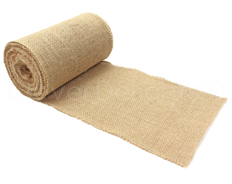 "6"" Premium Burlap Roll - Finished Edges"