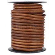 "1/4"" Genuine Leather Round Cord - Brown"