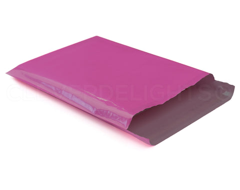 "Magenta Poly Mailers - 9"" x 12"""