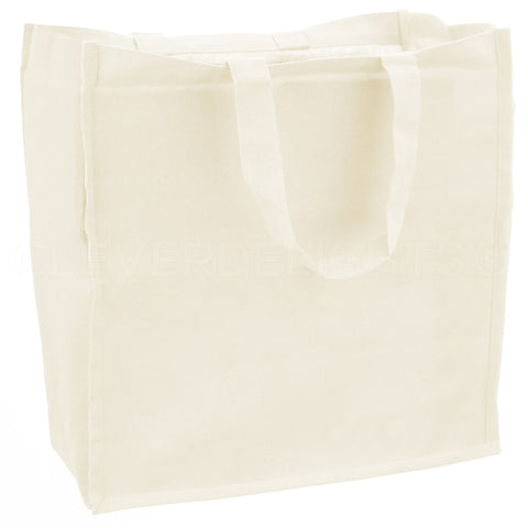 "Cotton Canvas Tote Bags - 14"" x 14"" x 8"""