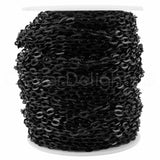 Bulk Cable Chain - 4x6mm Link - Dark Black Color