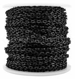 Bulk Cable Chain - 3x4mm Link - Dark Black Color