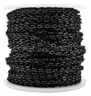 Cable Chain - 3x4mm Link - Dark Black Color
