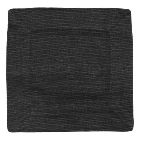 "6"" Cocktail Napkins - 100% Cotton Canvas - Black"