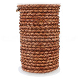 "1/8"" Braided Leather Bolo Cord - Brown"