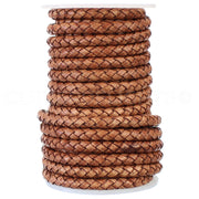 "1/4"" Braided Leather Bolo Cord - Brown"