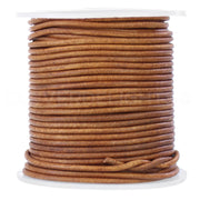 "1/16"" Genuine Leather Round Cord - Brown"