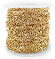 Cable Chain - 3x4mm Link - Champagne Gold Color