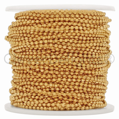 Bulk Ball Chain - 2.0mm Ball - Champagne Gold Color