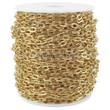 Cable Chain - 5x7mm Link - Champagne Gold Color