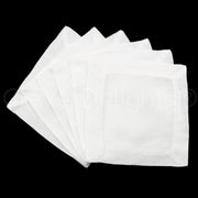 "6"" Cocktail Napkins - 100% Linen - White"