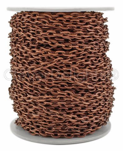 Bulk Cable Chain - 4x6mm Link - Antique Copper Color