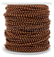 Bulk Ball Chain - 2.0mm Ball - Antique Copper Color