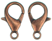Lobster Clasps - 14x8mm - Antique Copper Color