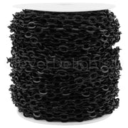 Bulk Cable Chain - 5x7mm Link - Dark Black Color