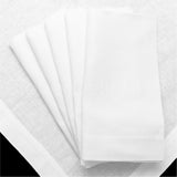 "20"" Dinner Napkins - Linen/Cotton Blend - White"