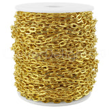 Cable Chain - 5x7mm Link - Gold Color