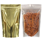 "Gold Back / Clear Front Stand-Up Pouches - 16oz - 7"" x 11.5"" x 4"""