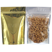 "Gold Back / Clear Front Stand-Up Pouches - 8oz - 6"" x 9"" x 3"""