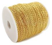 Bulk Cable Chain - 2x3mm Link - Gold Color