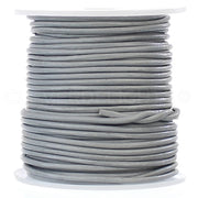 "1/16"" Genuine Leather Round Cord - Gray"