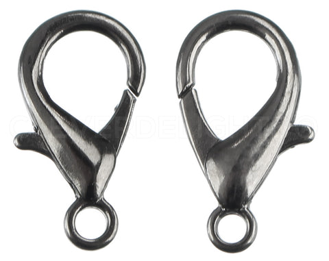 Lobster Clasps - 21x12mm - Gunmetal Color