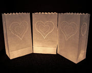 Luminary Bags - Heart of Hearts - White