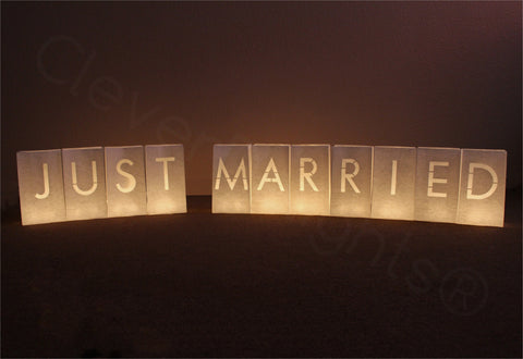 Luminary Bags - Just Married - White