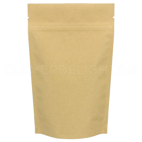 "Kraft Stand-Up Pouches - 4oz - 5"" x 8"" x 2.5"""