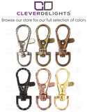 "1.5"" Swivel Lobster Clasps With Key Rings - Rose Gold Color"