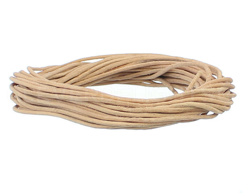 "1/16"" Genuine Leather Round Cord - Natural"