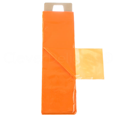 "Newspaper Bags - 6"" x 19"" - 0.8 Mil - Orange"