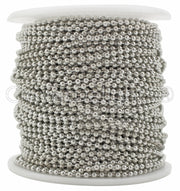 Bulk Ball Chain - 2.0mm Ball - Platinum Silver Color