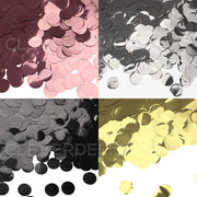 "1"" Round Shiny Confetti - Metallic Colors - Bulk 10oz Can"