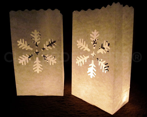 Luminary Bags - Snowflake - White