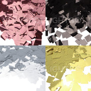"3/8"" Square Shiny Confetti - Metallic Colors - Bulk 10oz Can"